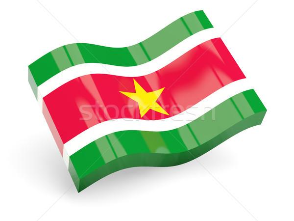 3D флаг Суринам изолированный белый путешествия Сток-фото © MikhailMishchenko