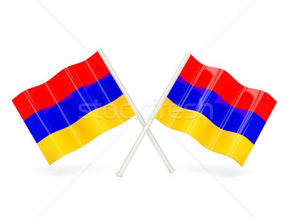 フラグ アルメニア 2 波状の フラグ 孤立した ストックフォト © MikhailMishchenko