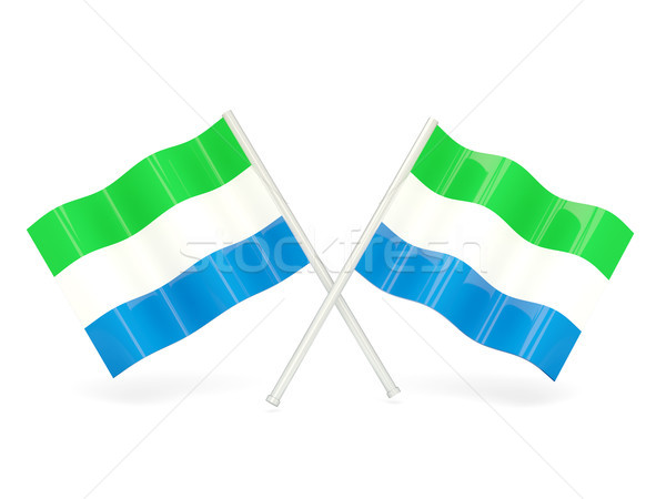 Flag of sierra leone Stock photo © MikhailMishchenko