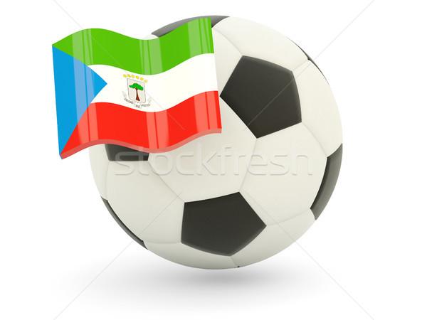 Futebol bandeira Guiné Equatorial isolado branco esportes Foto stock © MikhailMishchenko