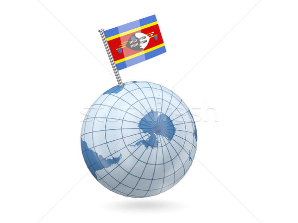 Globe with flag of swaziland Stock photo © MikhailMishchenko