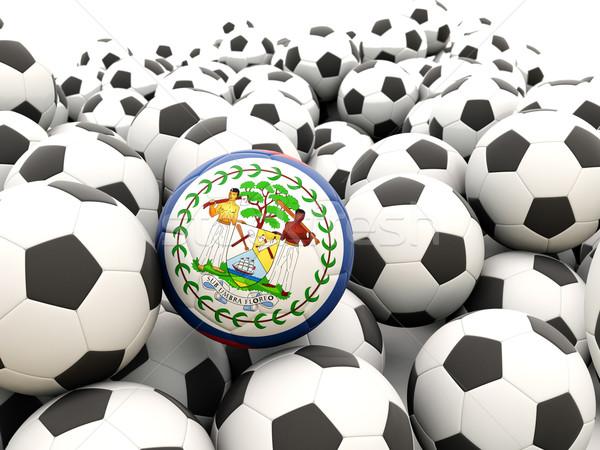 Futball zászló Belize rendszeres golyók nyár Stock fotó © MikhailMishchenko