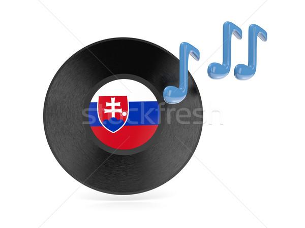 Vinyl disk with flag of slovakia Stock photo © MikhailMishchenko