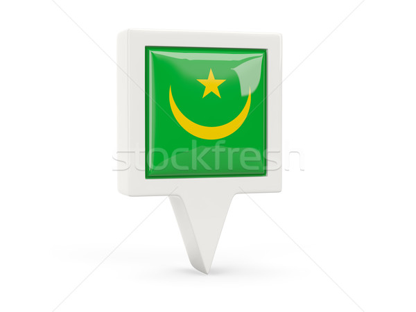 Square flag icon of mauritania Stock photo © MikhailMishchenko