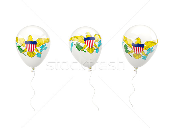 Air balloons with flag of us virgin islands Stock photo © MikhailMishchenko