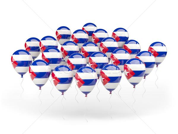 шаров флаг Куба изолированный белый путешествия Сток-фото © MikhailMishchenko