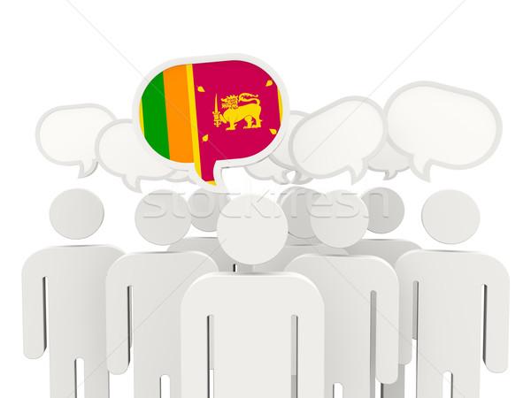 People with flag of sri lanka Stock photo © MikhailMishchenko