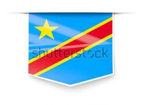 Kare Metal düğme bayrak demokratik cumhuriyet Stok fotoğraf © MikhailMishchenko