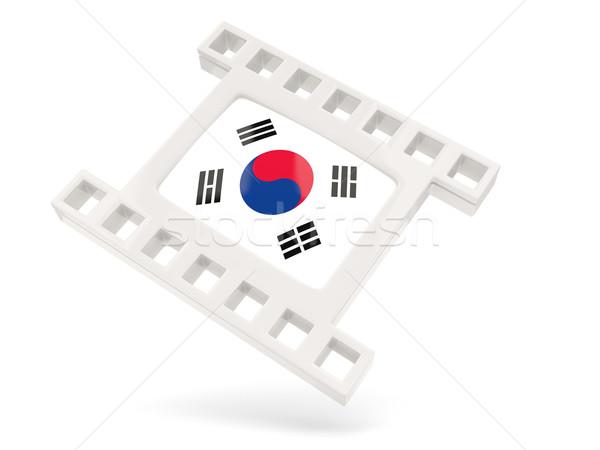 Film ikon bayrak Güney Kore yalıtılmış beyaz Stok fotoğraf © MikhailMishchenko