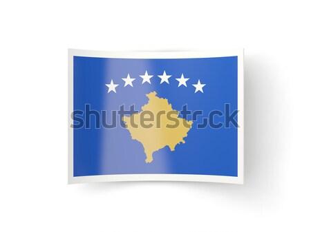 Square metal button with flag of kosovo Stock photo © MikhailMishchenko