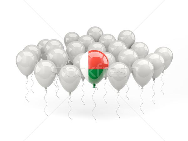 Air balloons with flag of madagascar Stock photo © MikhailMishchenko