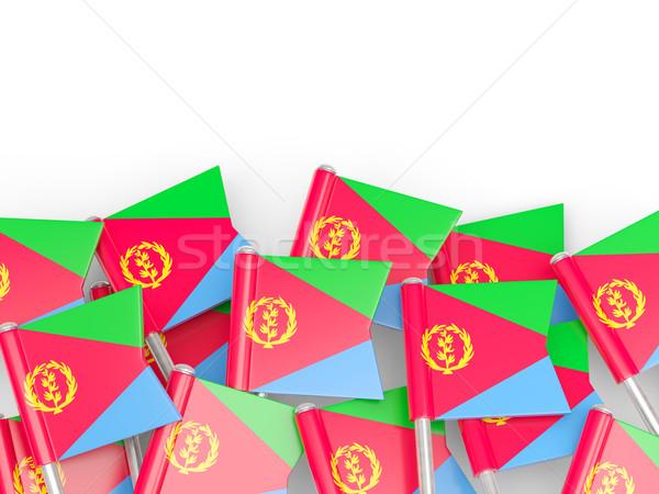 флаг Pin Эритрея изолированный белый фон Сток-фото © MikhailMishchenko