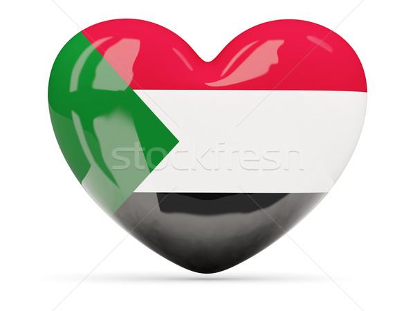 Hart icon vlag Soedan geïsoleerd Stockfoto © MikhailMishchenko