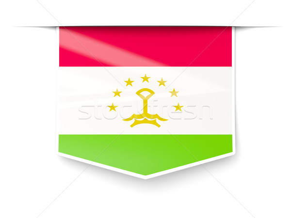 Square label with flag of tajikistan Stock photo © MikhailMishchenko