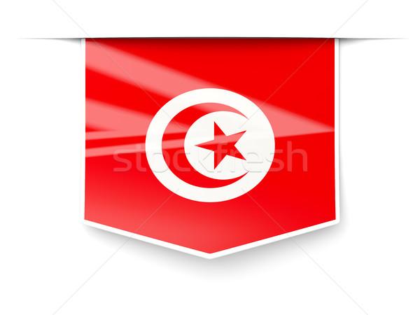 Square label with flag of tunisia Stock photo © MikhailMishchenko