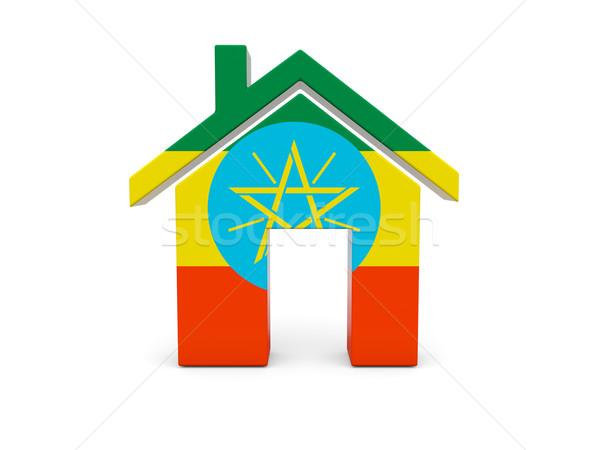 Home with flag of ethiopia Stock photo © MikhailMishchenko