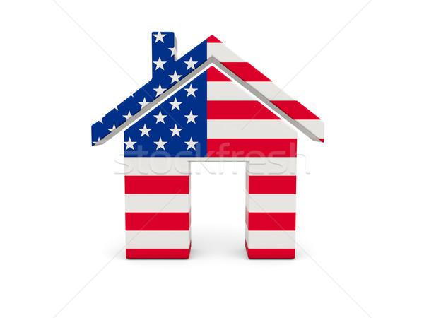Otthon zászló Egyesült Államok Amerika izolált fehér Stock fotó © MikhailMishchenko