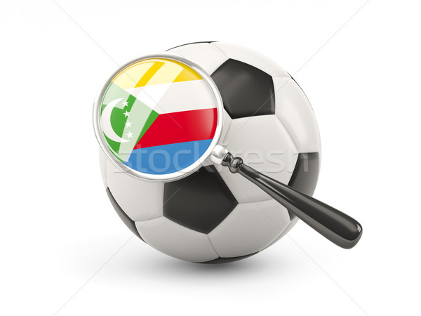 Football with magnified flag of comoros Stock photo © MikhailMishchenko