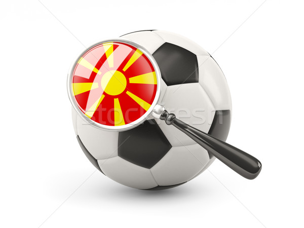 Football with magnified flag of macedonia Stock photo © MikhailMishchenko