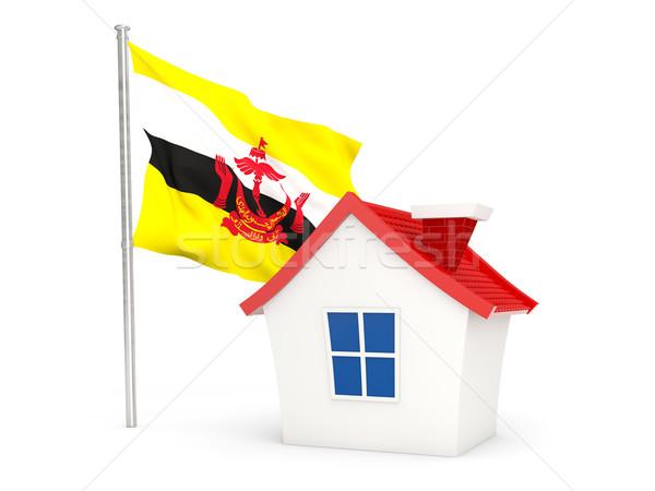 дома флаг Бруней изолированный белый Сток-фото © MikhailMishchenko