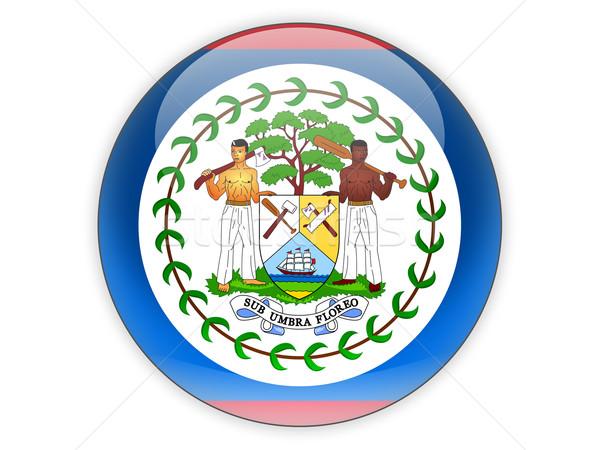 Ikon zászló Belize izolált fehér utazás Stock fotó © MikhailMishchenko