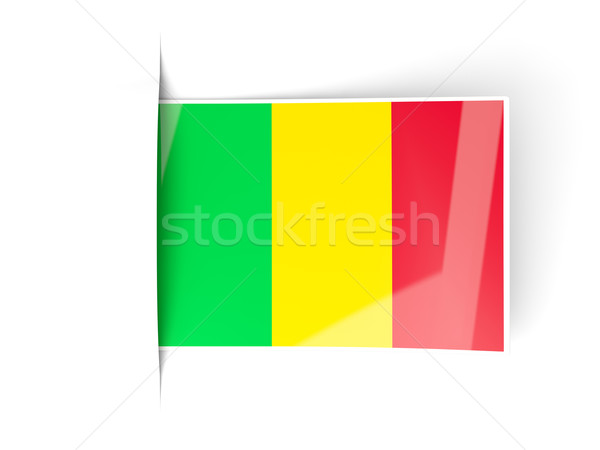 Square label with flag of mali Stock photo © MikhailMishchenko