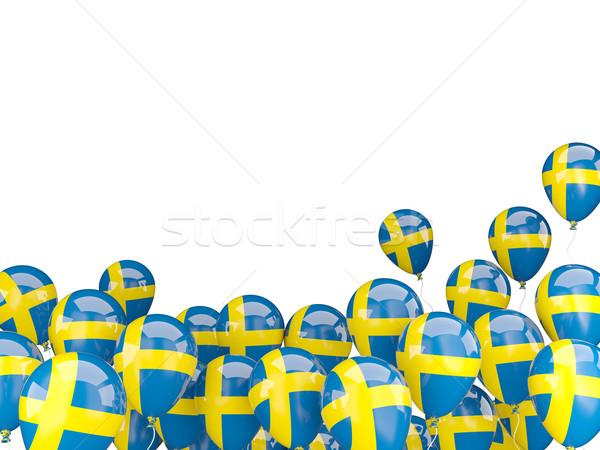 Battenti palloncini bandiera Svezia isolato bianco Foto d'archivio © MikhailMishchenko