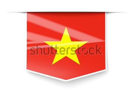 Vlag label Vietnam geïsoleerd witte teken Stockfoto © MikhailMishchenko