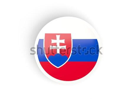 Adesivo bandeira Eslováquia isolado branco viajar Foto stock © MikhailMishchenko