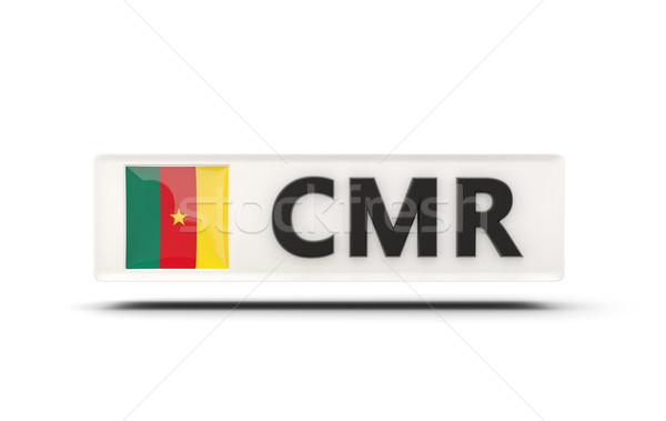 Placu ikona banderą Kamerun iso kodu Zdjęcia stock © MikhailMishchenko