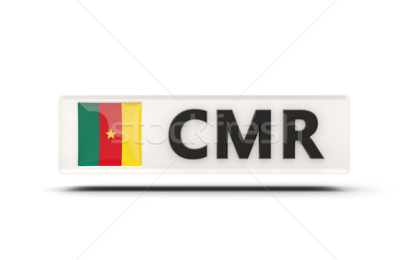 Vierkante icon vlag Kameroen iso code Stockfoto © MikhailMishchenko