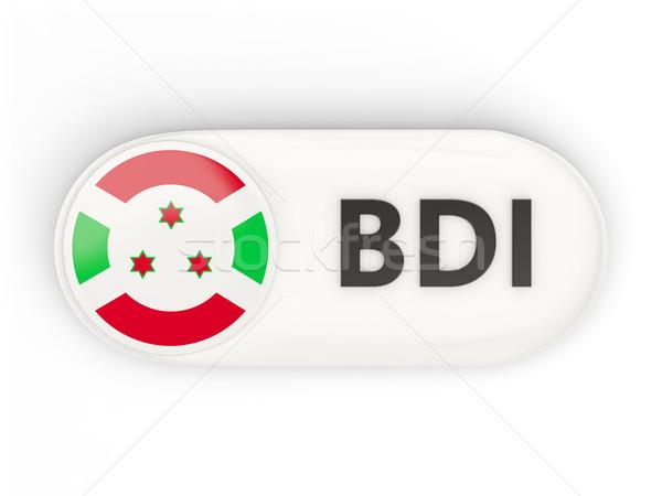 ícone bandeira Burundi iso código país Foto stock © MikhailMishchenko