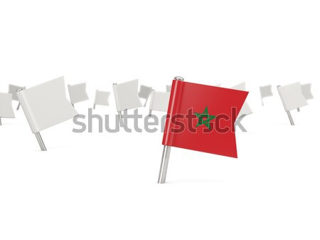 Praça pin bandeira Vietnã isolado branco Foto stock © MikhailMishchenko