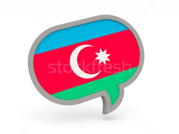Conversar ícone bandeira Azerbaijão isolado branco Foto stock © MikhailMishchenko