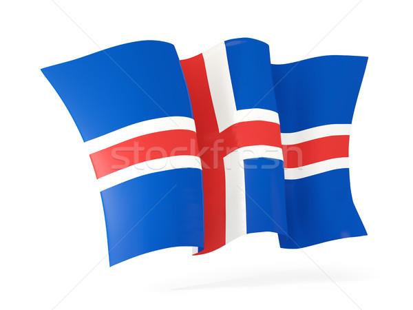 Bandeira Islândia ilustração 3d isolado branco Foto stock © MikhailMishchenko