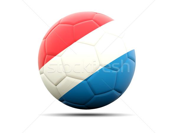 Voetbal vlag Luxemburg 3d illustration voetbal sport Stockfoto © MikhailMishchenko