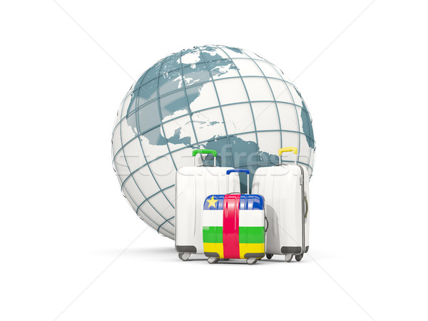 Luggage with flag of central african republic. Three bags in fro Stock photo © MikhailMishchenko