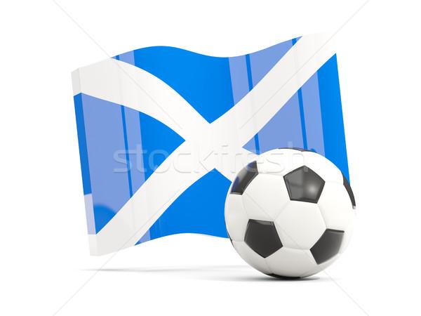 サッカー フラグ スコットランド 孤立した 白 ストックフォト © MikhailMishchenko