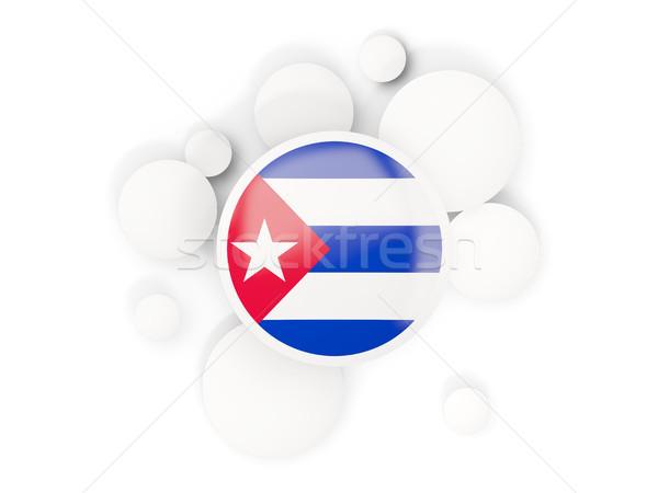 Bandiera pattern isolato bianco illustrazione 3d Foto d'archivio © MikhailMishchenko