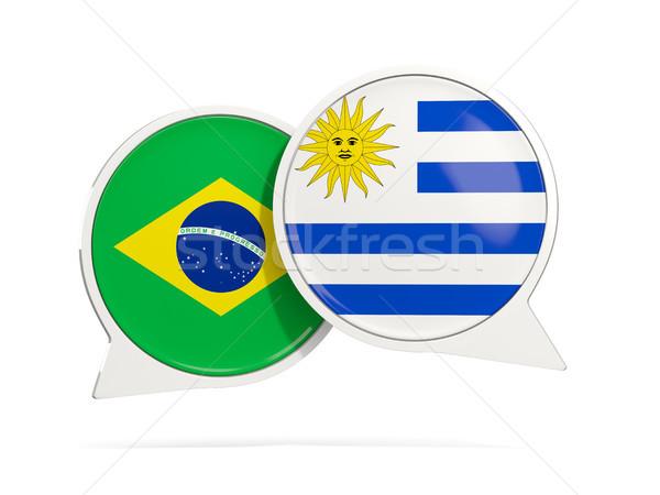 Chat pęcherzyki Brazylia Urugwaj odizolowany biały Zdjęcia stock © MikhailMishchenko