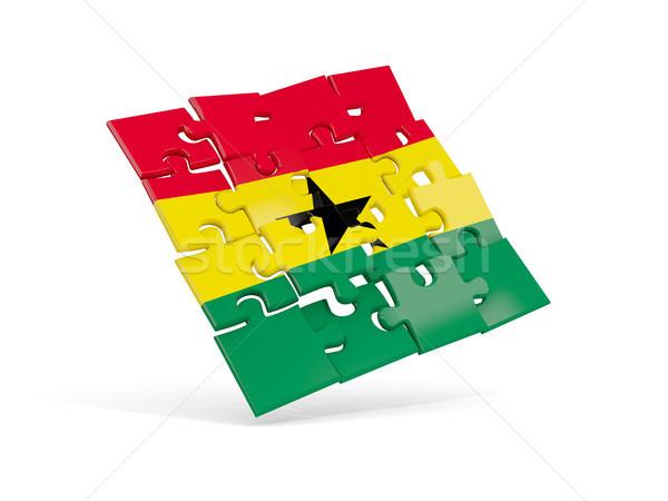 Puzzle flag of ghana isolated on white Stock photo © MikhailMishchenko