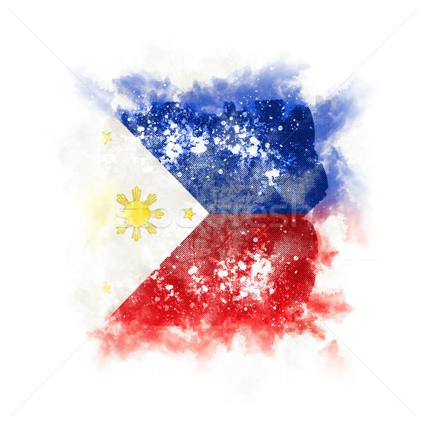 広場 グランジ フラグ フィリピン 3次元の図 レトロな ストックフォト © MikhailMishchenko