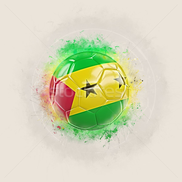Grunge football with flag of sao tome and principe Stock photo © MikhailMishchenko