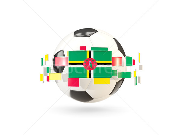 Soccer ball with line of flags. Flag of dominica Stock photo © MikhailMishchenko