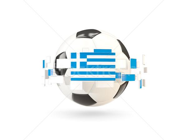футбольным мячом линия флагами флаг Греция Сток-фото © MikhailMishchenko