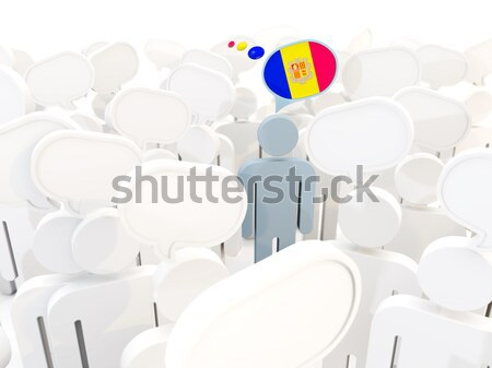 Man with flag of andorra in a crowd Stock photo © MikhailMishchenko