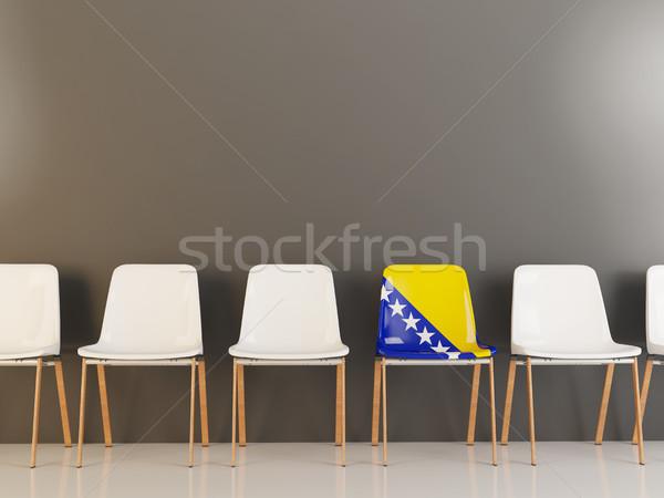 Silla bandera Bosnia Herzegovina blanco sillas Foto stock © MikhailMishchenko