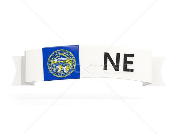 Nebraska bandeira bandeira abreviatura isolado branco Foto stock © MikhailMishchenko