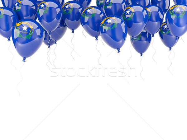 Balonlar çerçeve bayrak Nevada Amerika Birleşik Devletleri yerel Stok fotoğraf © MikhailMishchenko