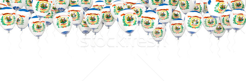 Balloons frame with flag of west virginia. United states local f Stock photo © MikhailMishchenko